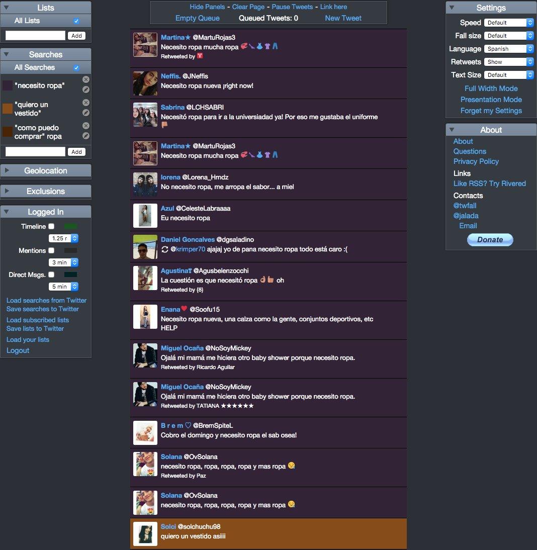 Twitterfall como herramienta para generar ventas