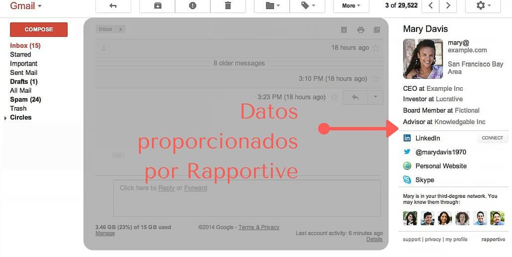 Cómo usar Rapportive para conectar con tus lectores
