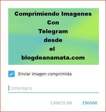 Enviar imagen con Telegram