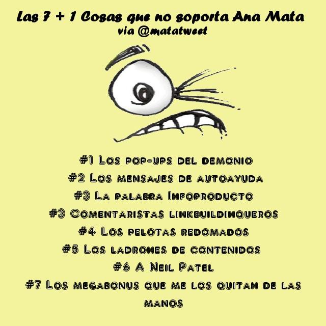 7 +1 cosas que no soporto del blogging #Retonsejo