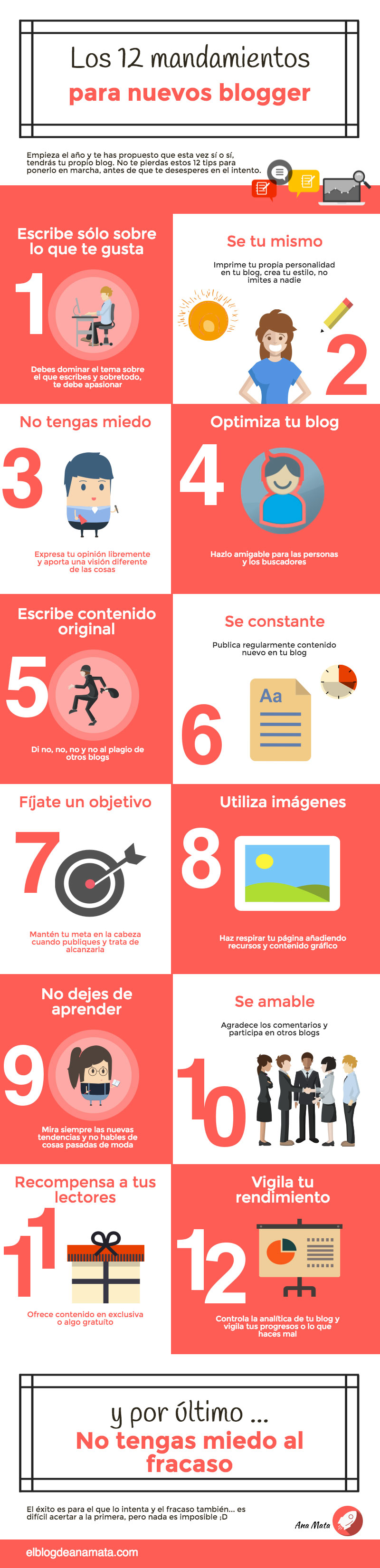 Tips para nuevos bloggers - #INFOGRAFÍA