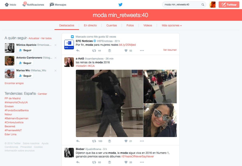 Cómo usar el operador min_retweets en Twitter