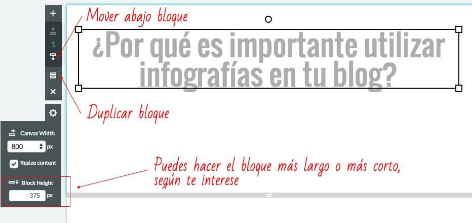 Cómo crear títulos en infografías