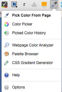 Extensión de Chrome: Colorzilla para extraer los colores de cualquier web