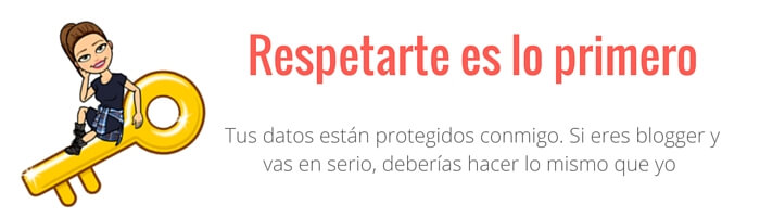 blogger proteccion de datos