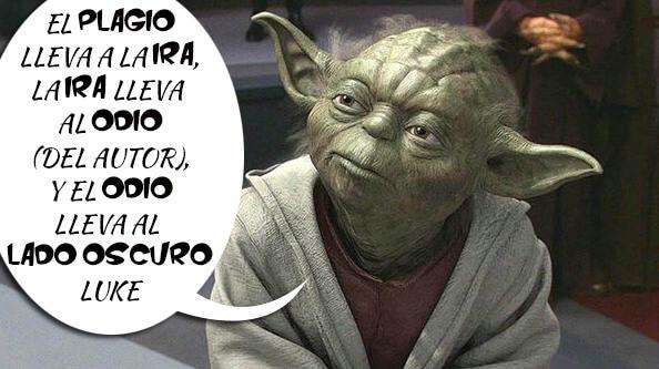 Consejos del maestro Yoda ante el plagio de contenidos