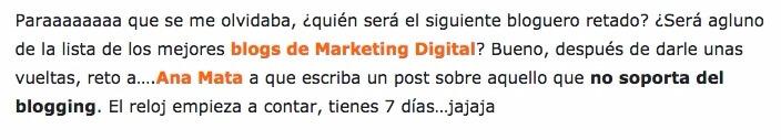 #Retonsejo: Lo que no soporto del blogging