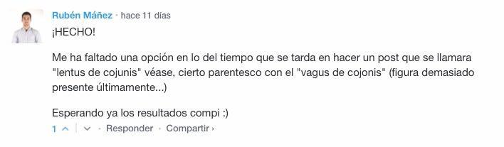 No te pierdas los comentarios de @RubenManez